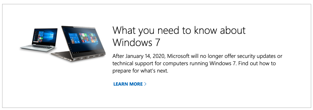 Image from Microsoft warning